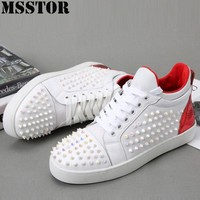MSSTOR Women Men Skateboarding Shoes Casual Fashion Woman Brand Athletic Walking Sport For Man Flat With White Ladies Sneakers