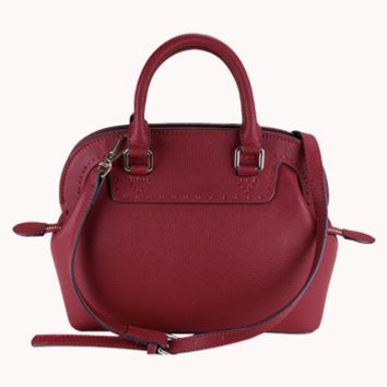 Stephanie Leather Bag Burgundy