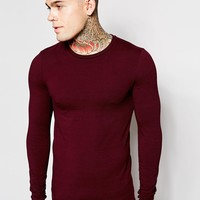ASOS Extreme Muscle Fit Long Sleeve T-Shirt With Crew Neck And Stretch