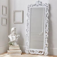 Lennon & Maisy Ornate Wood Carved Floor Mirror