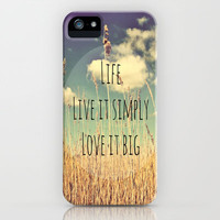 Live Simply iPhone & iPod Case by Ally Coxon
