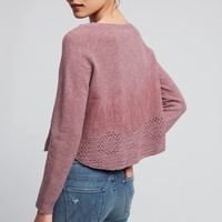 Cropped Pointelle Pullover