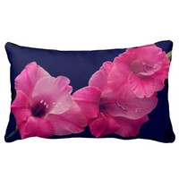 Beautiful pillow with pink flowers cushion