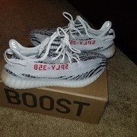 YEEZY BOOST 350 V2 ZEBRA SIZE 11 IN BOX cream white belluga copper