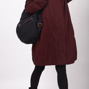 Red Wine hoodie Padded Winter Coat by MaLieb on Etsy
