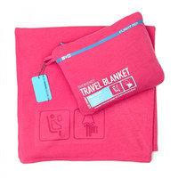 Flight 001 Pink Travel Blanket