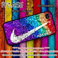 Nike just do it with glitter Case For Iphone 44s 5 Samsung S234 by pfstore on Zibbet