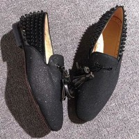 DCCK2 Cl Christian Louboutin Loafer Style #2355 Sneakers Fashion Shoes