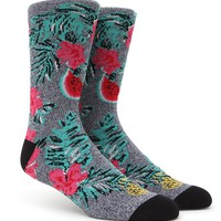 On The Byas Fruits And Flowers Crew Socks - Mens Socks - Blue - One