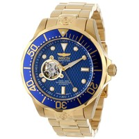 Invicta 13711 Men's Grand Diver Automatic Dive Blue Dial Gold Tone Steel Watch