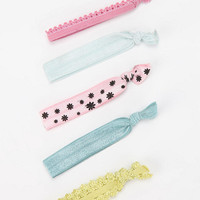 Urban Outfitters - Stretch Ponytail Holder - Set of 5