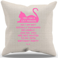 Cat Lady Pillow Case