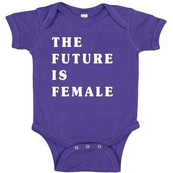 The Future Is Female Women's Power Feminism  Baby Bodysuit Romper