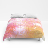 Circles Sunset Comforters by allycoxon