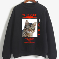Gay Cat Turtleneck