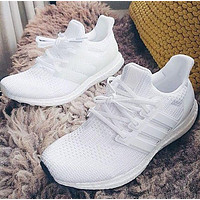 Onewel ADIDAS Ultraboost UB white men and women sports running shoes white shoes
