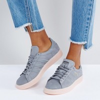 adidas Campus Trainer In Dark Grey at asos.com