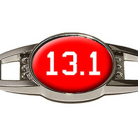 13.1 on red - half marathon - runner Shoe Charm
