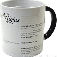 DISAPPEARING CIVIL LIBERTIES HEAT SENSITIVE MUG