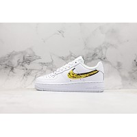 Nike Air Force 1 Af1 Low Diy Banana Logo