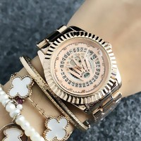 Rose Gold ROLEX Wtch for Women +gift box