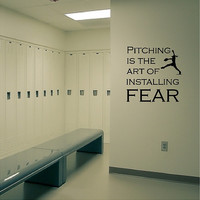 Pitching Is The Art Of Installing Fear Softball Wall Decal Removable Softball Wall Art Sticker