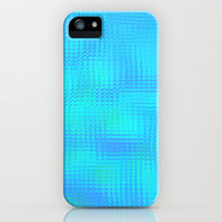 Blurry blue glass iPhone Case by Pink grapes | Society6