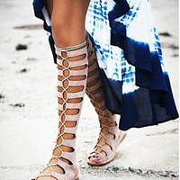New Summer Lace Up Sandals = 4777187140