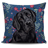 Black Lab Sweetheart Pillow Cover