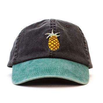 Pineapple Outdoors Cap (Black and Green)