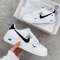NIKE Force 1 Low AF-1 OW letters full-head low-top shoes-3