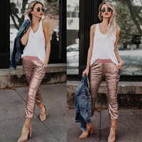Rose Gold Sequin Pants