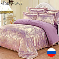 Brand SILK PLACE Bedding Set Satin Luxury Bedding Sets Cotton High Quality Jacquard Comfortable Bedding Duvet Cover Bed Sheet