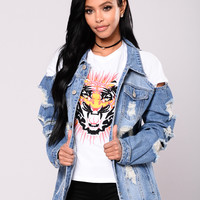 Have a Good Time Denim Jacket - Medium