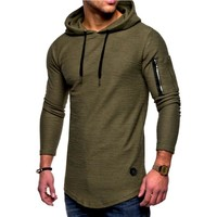 2018 Autumn New Fashion Mens Hoodies Brand Men Solid Color Hooded Sling Sweatshirt Mens Hoodie Hip Hop Hoodie XXXL