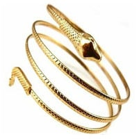 Punk Fashion Coiled Snake Spiral Upper Arm Cuff Armlet Armband Bangle Bracelet