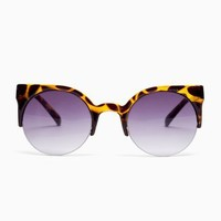 Loren Shades - Amber Tortoise in  What's New at Nasty Gal