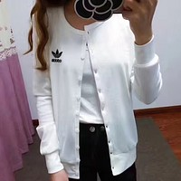 adidas Women Button-Up Sleeve Shirt Favorite Jacket Coat
