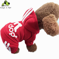 Small Four Leg Puppy Dog Coat jumpsuit,Pet Cotton Sportswear Costume Adidog Clothes For Dog Jumpsuit Sweater For Teddy Chihuahua