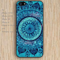 iPhone 5s 6 case watercolor mandala green colorful phone case iphone case,ipod case,samsung galaxy case available plastic rubber case waterproof B519
