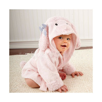 15 Color Children Bathrobe Pure Cotton Good Hydroscopicity Cartoon Cute Sleepwear Pajamas   Pink Dog