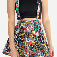 Star Wars Suspender Skater Skirt