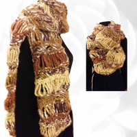 Chunky Scarf, Winter Scarf, Colorful Scarf, Yellow Scarf, Gold Scarf, Brown Scarf, Gray scarf, Cream Scarf, White Scarf, Multicolor Scarf