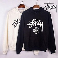 Stussy Unisex Casual Top Sweater Pullover Hoodie-1