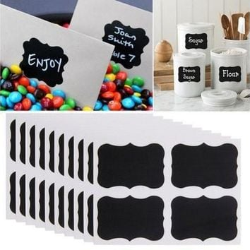 NEW 36x Chalkboard Blackboard Chalk Board Stickers Craft Kitchen Jar Labels Tags [7983548231]