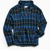 UO Mock Neck Flannel Popover Shirt   Urban Outfitters