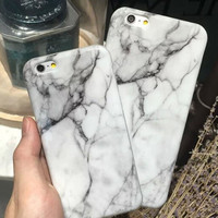 Cool marble phone case for iPhone 8 8PLUS X 7 7 plus iphone 5 5s SE 6 6s 6 plus 6s plus + Nice gift box 080901