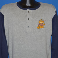 80s Garfield Big Man On Campus t-shirt Large