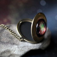 Galaxy Space Locket Necklace - Pick Your Planet or Nebula