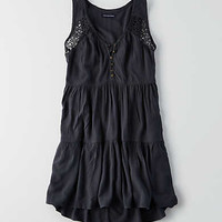 AEO Tiered Shift Dress, Black